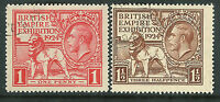 Great Britain 1924 Wembley set very fine used SG430/431