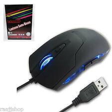 IN BOX 2400 DPI USB 6 TASTE OPTISCHE GAMING MAUS FÜR PC LAPTOP DESKTOP MAC BUCH