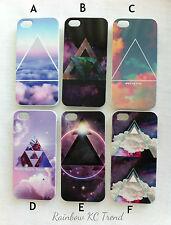 Galaxy/Cloud Space/Cloud Sky Geometric Triangle Printed iPhone 5 5s Case