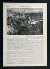 Harper's Civil War Print - Railroad Bridge at Bull run