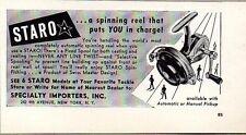 1953 Print Ad Staro Fishing Reels Swiss Design New York,NY
