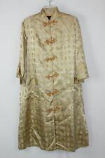 Vintage House of Ming Gold Brocade M Medium Oriental Silk Robe