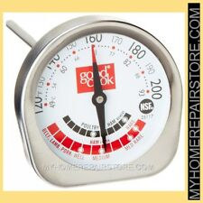 """FREE S&H ! GOOD COOK STAINLESS 2"""" PRECISION MEAT THERMOMETER / TEMPERATURE PROBE"""
