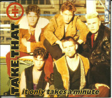 Robbie Williams TAKE THAT It only takes a minute UNRELEASED & MIXES CD Single