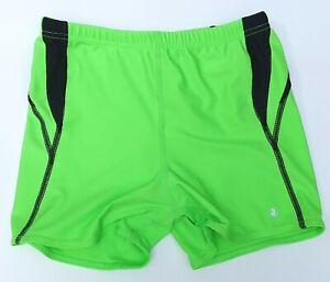 """ACCLAIM Mens Devonport Boxer Swimming Trunks Large 28""""/30"""" Wst Fluo Green Black"""