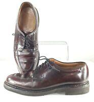 Johnston Murphy Estate Oxford Mens Size 8.5 W Brown Leather Split Toe Dress Shoe