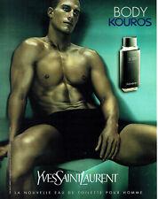Publicité Advertising 107  2000  Body Kouros eau toilette homme Y. Saint Laurent