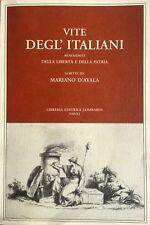 MARIANO D'AYALA VITE DEGL'ITALIANI BENEMERITI DELLA LIBERTÀ PATRIA LOMBARDI 1999