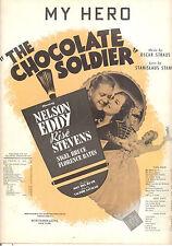 "CHOCOLATE SOLDIER Sheet Music ""My Hero"" Nelson Eddy Rise Stevens"