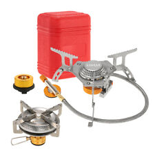 2PCS Foldable Windproof Camping Gas Stove Portable Outdoor Cooking with Box V8D2