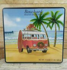 Bouchard Belgian Chocolate Tin Can empty California Beach Surf with Volkswagen