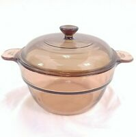 Vision Ware Double Boiler Insert Amber Glass For 1.5L Sauce Pan With Lid V-20-B