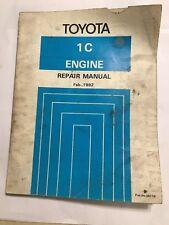 TOYOTA TYPE 1C DIESEL ENGINE OEM FACTORY WORKSHOP MANUAL CARINA CORONA 1982>