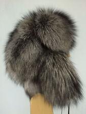 Saga Black Silver Fox Fur Full Hat Ushanka