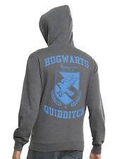 Harry Potter Ravenclaw Quidditch Crest Grey Hoodie Hoody Sweatshirt Men's Small
