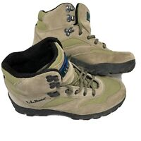 LL BEAN Women's US 9 Hiking Trail Boots Beige Leather Suede Upper OHR88