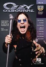 Ozzy Osbourne Guitar Play Along 8 Songs! DVD NEW!