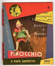Pinocchio E PAPA' GEPPETTO EDIKON CON OCCHIALINI 3D