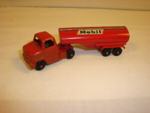 Vintage Tootsie Toy -- 1950's -- Mobil Oil Truck -- Preowned