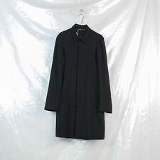 TOUS LES DEUX ENSEMBLE black linen elongated shirt coat 44 XS