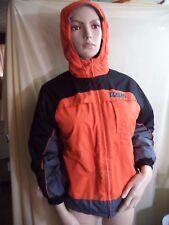 Reebok Philadelphia Flyers Hockey Lined Hooded Jacket Mans M Orange Poly VGC