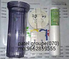 "RO,UV,Water Purifier Transparent 10"" Pre-Filter bowel+Kemflo PP Spun Filter[070]"