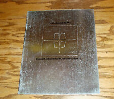 Original 1971 Lincoln Continental & Continental Mark III Deluxe Sales Brochure