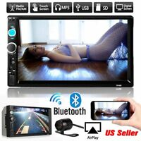 """7"""" Double 2DIN Car MP5MP3 Player Bluetooth Touch Screen Stereo Radio HD Camera J"""