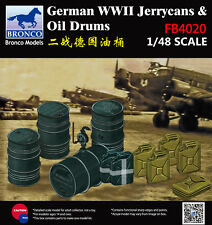 Bronco Models 1/48 WWII German Jerrycans and Oil Drums