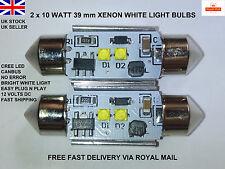 2x 39 millimetri 10W CREE XBD 239 242 272 CANBUS NO OBC ERROR XENON Bianco Lampadine