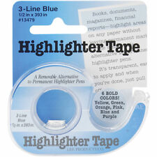 Lee Products - Highlighter Tape 1.3cm X 1000cm Blue. .