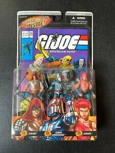 GI JOE ARAH Comic Pack #74 Zartan, Zarana, Cobra Commander