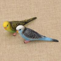 1x Kawaii Künstliche Papagei Vogel Figur Modell Zimmer Haus Dekoration Blau Gelb