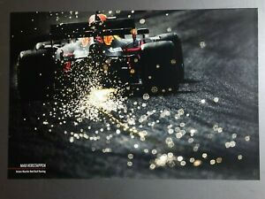 2020 Max Verstappen Aston Martin Red Bull Racing Print Picture Poster RARE!!
