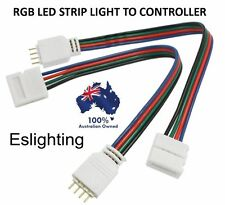 4 Pin RGB Strip Light to Controller Connectors Wire Cable for 10mm 3528 5050