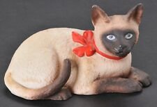 Vintage Schmid Christmas Siamese Cat Figurine Gordon Fraser 1984 Porcelain