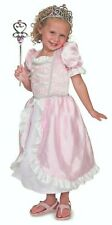 Girl Pink Princess Role Play Crown Wand Fancy Dress Costume Set Age 3 4 5 6 Kid