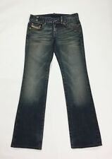 Diesel cherone W28 tg 42 jeans bootcut donna usato zampa denim loose blu T3526