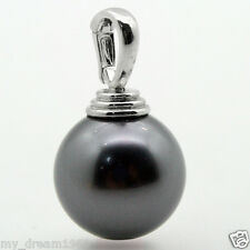 HOT Huge + 16mm Black South Sea Shell Pearl 14K WHITE GOLD P PENDANT