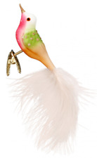 """Inge Glas """"Penelope"""" Clip-On Bird Glass Ornament - Made in Germany (#418)"""