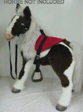 S'MORES BUTTERSCOTCH HORSE SADDLE BRIDLE  SET RED