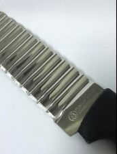 THAI STAINLESS STEEL CARVING KNIFE DECORATION WAVING  ZIGZAG SLICER SHARP  NEW