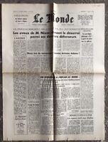 N67 La Une Du Journal Le Monde 7 Août 1974