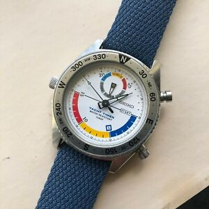 🔥Seiko Yacht Timer 8M37-6000 - Rare