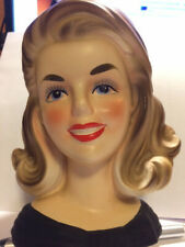 Vintage Inarco E 2783 Lady Head Vase Toothpaste Girl Great condition
