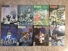 Vintage DRAGON MAGAZINE Lot Of 8 Dungeons And Dragons Role playing