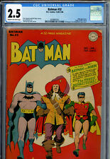 Batman #32 (DC, Dec/Jan '45-46) CGC 2.5 (COW) Vintage Comic Book Robin Origin