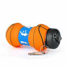 Basketball Shape Silicon Water Bottle Foldable Camp Travel Adult Kids