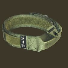 K9 Dog Tactical COLLAR Molle Handle Training HOOK & LOOP Large sz M, L, XL, XXL