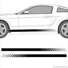 Universal 3M Vinyl Faded Rocker Panel Stripes for any Car or Truck Decals